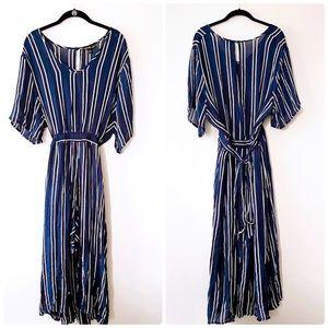 CHESLEY Blue & White Striped Dress NWT